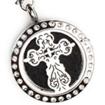 Open Cross Aroma Locket Necklace