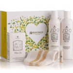White Lily Gift Basket