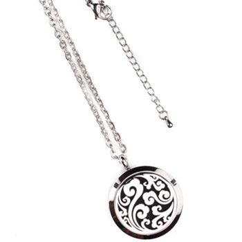 Bohemian Silver Aroma Locket Necklace
