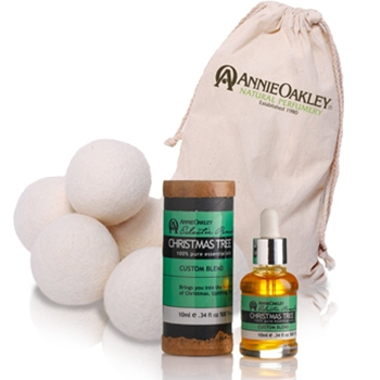 Wool Dryer Balls with Christmas Tree Pure Essential Oil