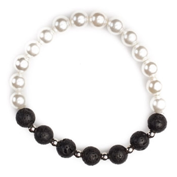 Pearl and Lava Bracelet