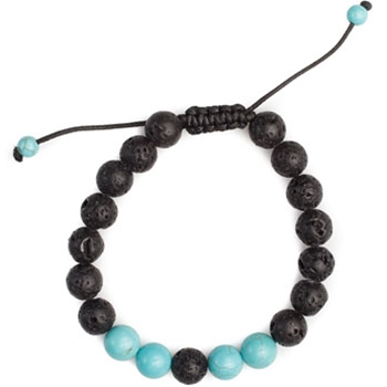 Turquoise and Lava Bracelet