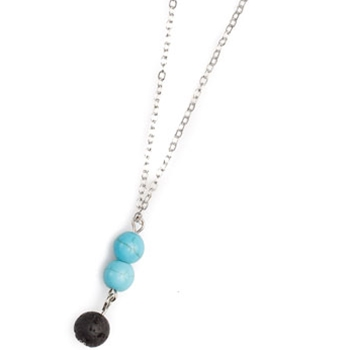 Turquoise and Lava Necklace