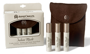 Indian Musk ~ 3 Little Annie's ™ Travelers with Suede Travel Pouch